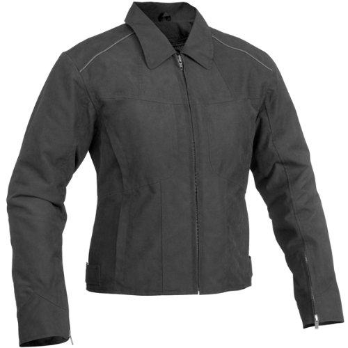 River Road Topaz Women's Textile Harley Touring Motorcycle Jacket - Black / Medium