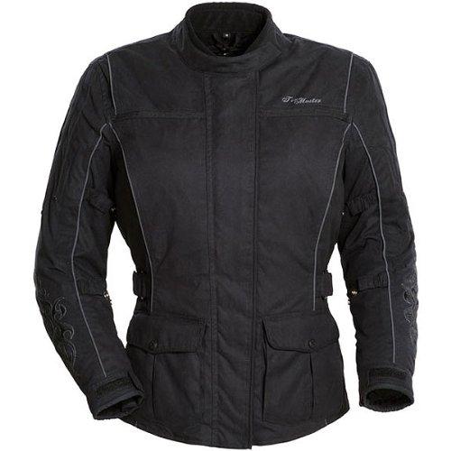 Tour Master Motive Women's Textile Touring Motorcycle Jacket - Black/black / Plus Medium