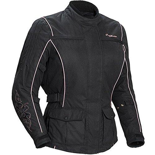 Tour Master Motive Women's Textile Touring Motorcycle Jacket - Black/pink / X-small