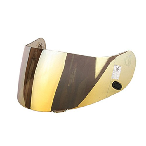 HJC AC-12CL-SPCL-15CL-16FS-10IS-16CS-R1CS-R2 Motorcycle Helmet Replacement Faceshield Mirror-Coated Gold
