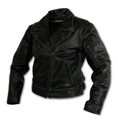 Milwaukee Motorcycle Clothing Company Rangerette Leather Womens Jacket Black Medium