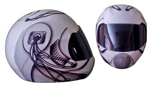 SkullSkins 07 Motorcycle Helmet Street Skin BlackWhite