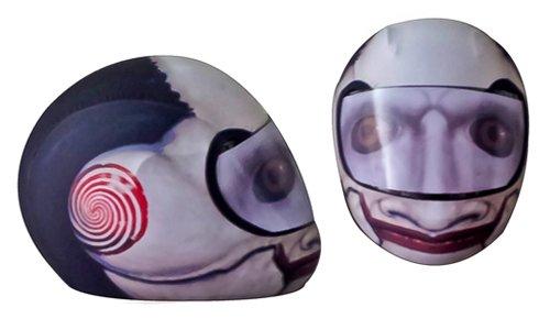 SkullSkins The Puppet Motorcycle Helmet Street Skin RedBlack