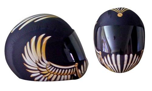 SkullSkins Wings Motorcycle Helmet Street Skin Gold