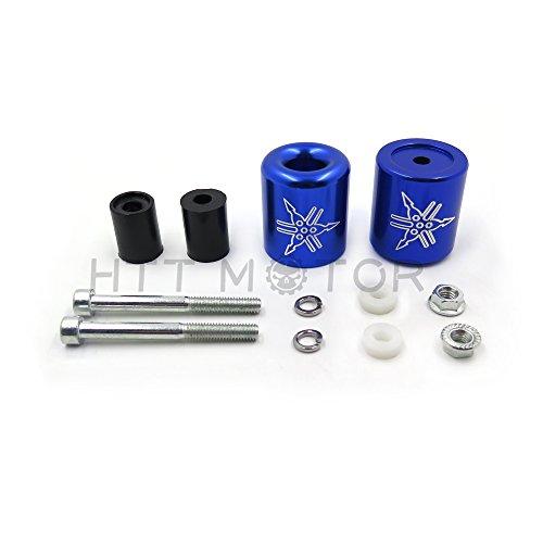 HTTMT- Handlebar Bar End Slider Rubber For Yamaha R1 1998-2012 R6 2006-UpFJR1300 Blue