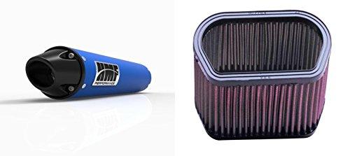 K&N Air Filter HMF Blue Performance-Series Slip On Exhaust Euro-Black for Yamaha R1 1998-2001