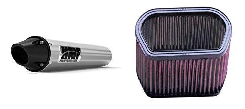 K&N Air Filter HMF Brushed Performance-Series Slip On Exhaust Euro-Black for Yamaha R1 2002-2003