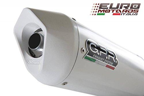 Yamaha R1 2002-2003 GPR Exhaust Systems Albus White Slipon Silencer Road Legal
