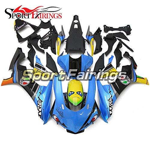 Sportfairings Motorbike Complete Fairing Kit For Yamaha YZF1000 YZF R1 2015 2016 Year 15-16 Shark Blue Spoilers