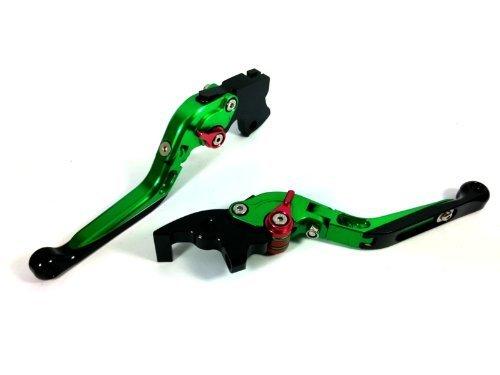 CTG Extend FOLD FOLDING Clutch Brake Levers for YAMAHA R1 2004-2008-Green