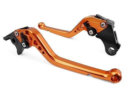 USL-227 Long Adjustable Motorcycle Brake and Clutch Levers for YAMAHA YZF R1 1999-2001-Orange