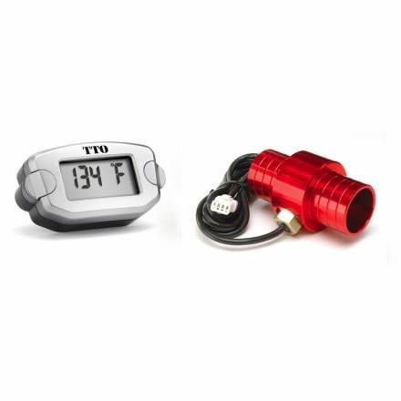 Trail Tech 743-EH1 TTO Water Temp Meter - 19mm Hose - Orange