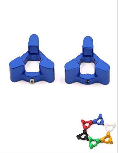 Pair Fork Preload Adjusters CNC Aluminum For BMW F800GS 08-10 G650X 2009 BUELL 1125R 08-09 XB12R 09 DUCATI M1100 Monster 2009 HONDA CBR 600RR 07-10 CBR1000RR 08-10 CB1000R 08-09 Blue