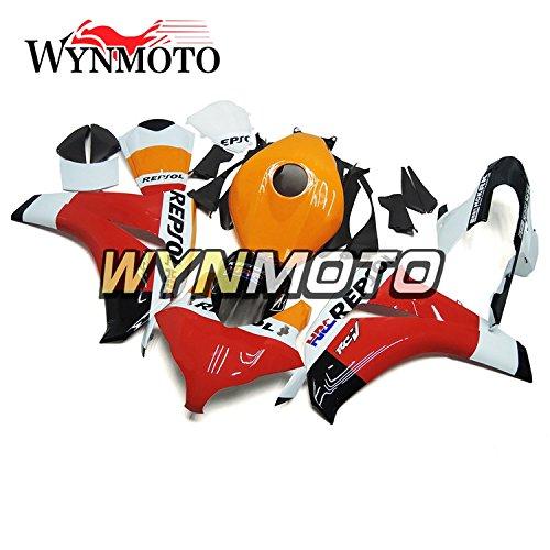WYNMOTO Orange White Red Motorcycle Body Kit For Honda CBR1000RR 08 09 10 11 2008 2009 2010 2011 Sportbike ABS Plastic Injection Fairings