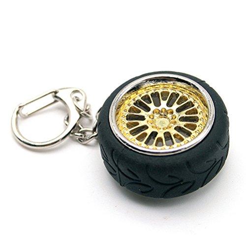 Waterwood CCW HellaFlush style Polish Chrome Wheel Rims A050 Racing Tire Keychain-Golden