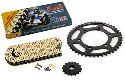 03-05 Yamaha R6 YZF-R6 530 Conv CZ SDZZ Gold X-Ring Chain Sprocket 1644 120L