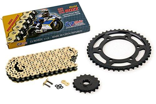 03-05 Yamaha R6 YZF-R6 530 Conv CZ SDZZ Gold X-Ring Chain Sprocket 1742 120L