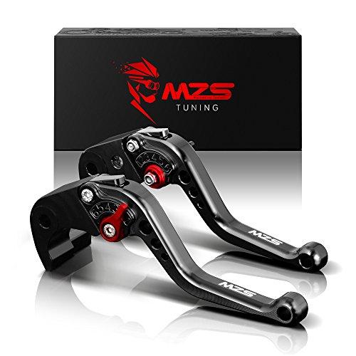 MZS Short Brake Clutch Levers for Kawasaki Z750R 2011-2012Z1000 2007-2016Z1000SXNINJA 1000Tourer 2011-2016ZX6R636 2007-2017ZX10R 2006-2015 Black