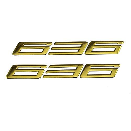 PRO-KODASKIN Motorcycle 3D Raise Emblem Stickers Decal for Kawasaki ZX-6R ZX636 ZX6R 636 Gold