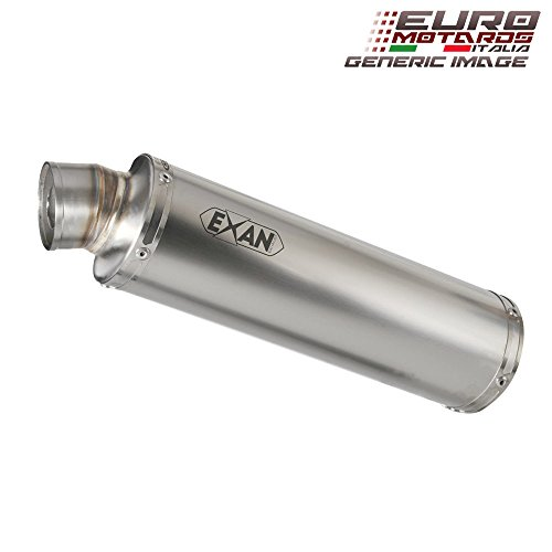 Kawasaki ZX6R 2009-2012 Exan Exhaust Silencer X-GP Stainless Steel New