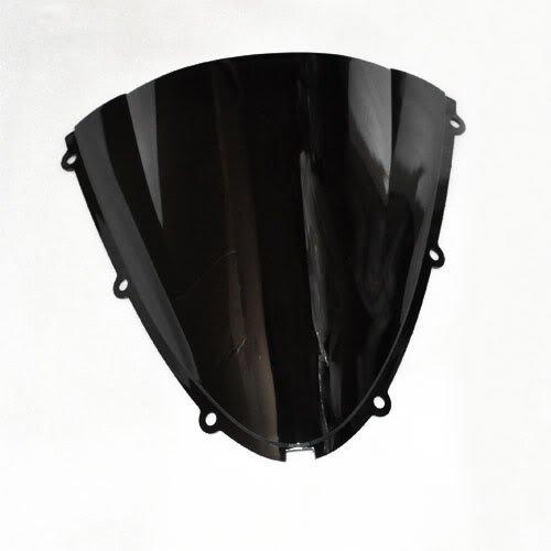 Wotefusi Motorcycle Black Dark Smoke Windscreen Windshield For Kawasaki Ninja ZX-6R ZX6R 2005 2006 2007 2008