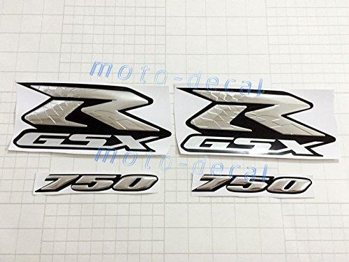 Decal Story 3D Emblem Sticker Decal Silver 25th Anniversary Raise Up Polish Gloss For Suzuki GSXR Gixxer 750