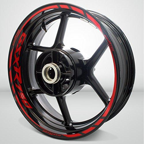 Suzuki GSXR 750 Gloss Red Motorcycle Rim Wheel Decal Accessory Sticker