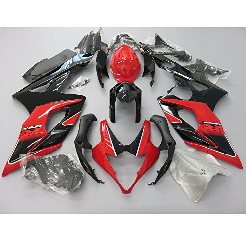 ZXMOTO Red Black Fairing Kit for Suzuki GSXR 1000 K5 2005-2006