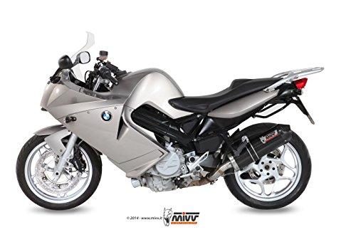 Mivv B023LEC BMW F 800 S  ST 2006  2012 SLIP-ON EXHAUST OVAL CARBON CARBON CAP