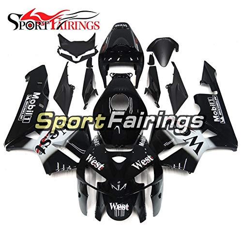 Sportbikefairings Complete Fairing Kit For Honda CBR600RR CBR600 RR F5 Year 2005 2006 ABS Black White Injection Body Kit