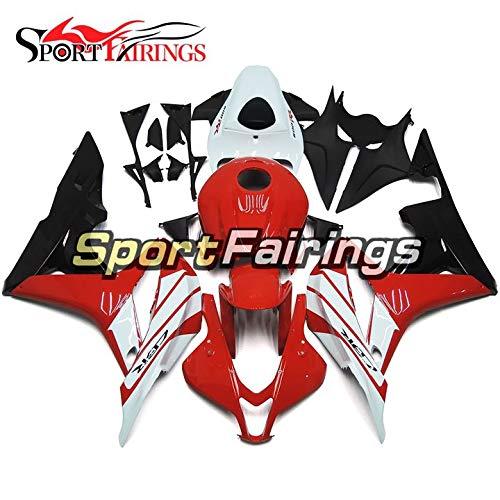 Sportbikefairings Complete Motorcycle Fairing Kit For Honda CBR600RR CBR600 RR F5 07-08 2007 2008 Bodywork Red Black Bike Cover
