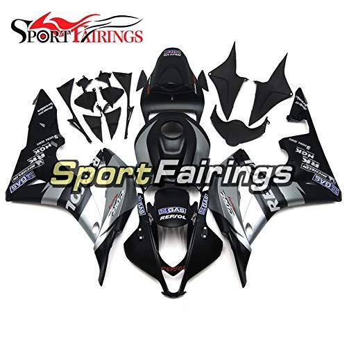 Sportbikefairings Full Cover Motorcycle Fairing Kit For Honda CBR600RR CBR600 RR F5 Year 2007 2008 Fittings Injection ABS White Black Points