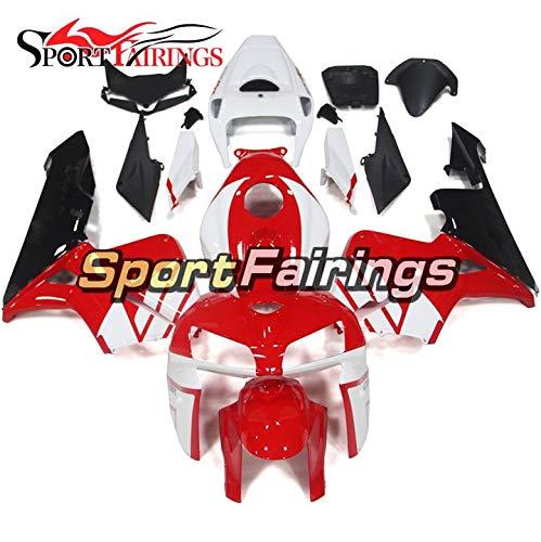 Sportbikefairings Motorcycle ABS Plastic Fairing Kit For Honda CBR600RR CBR600 RR F5 2005-2006 Red White Black Bodywork