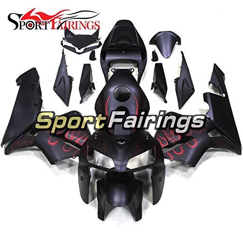 Sportbikefairings Motorcycle Full Fairing Set For Honda CBR600RR CBR600 RR F5 Year 2005 2006 ABS Plastic Flat Black Red
