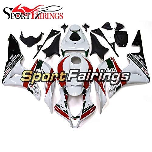 Sportfairings Complete Motorcycle Injection Fairings For Honda CBR600RR 2007 2008 White Green Castrol ABS Plastic Bodywork