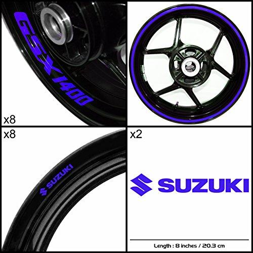 Stickman Vinyls Suzuki GSX 1400 Motorcycle Decal Sticker Package Gloss Blue Graphic Kit