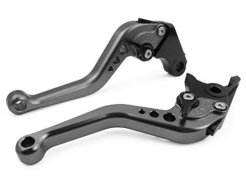 LUO CNC Short Brake Clutch Levers for Suzuki DL1000V-STROM 02-16GSX650F 08-15GSX1250 FSAABS 10-16GSF1200 01-06 GSF1250 07-15GSXR1300 99-07GSX1400 01-07TL1000R 98-03SV1000S 03-07 Gray