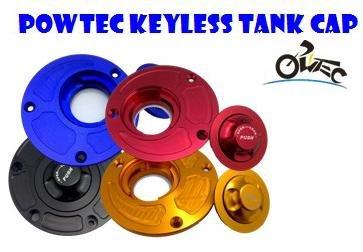 POWTEC Quick Release CNC Billet Keyless Fuel Gas Tank Cap for Suzuki BANDIT GSF1200 1996-2005BANDIT GSF600 1996 -2004-Black