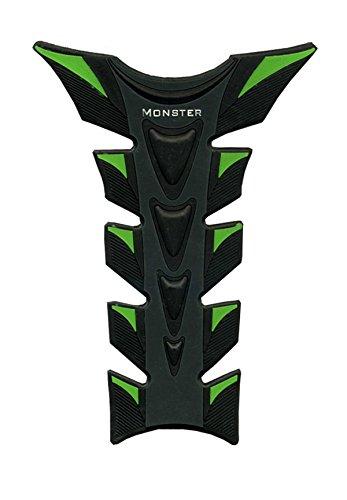 Green & Black Motorcycle 3d Fiber Gas Tank Protector Racing Pad Sticker Rubber Decal For Kawasaki Zx10r 2006 2007