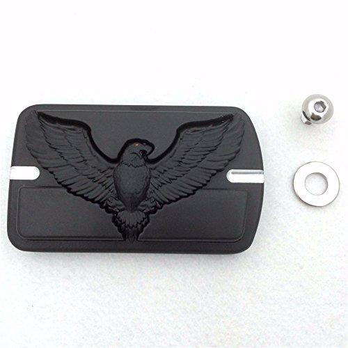 XKH Group Motorcycle Black Harley Davidson Touring Softail Brake Pedal Large Pad H D Eagle Hawk Emblem