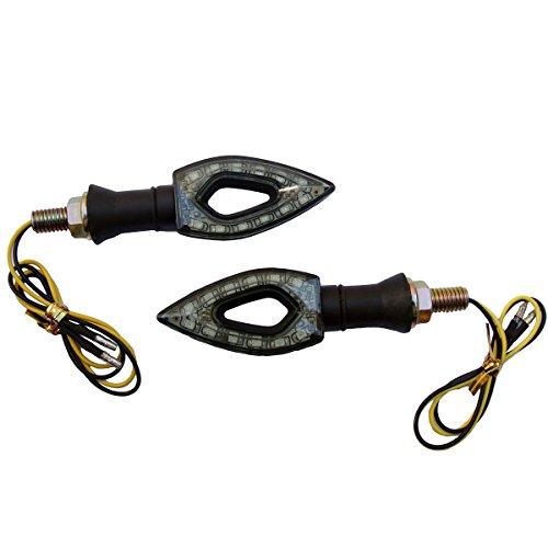 2 x Black LED Turn Signal Indicators Blinker Amer Diamond Lights For 2002 Honda Shadow ACE 750 VT750CD Deluxe