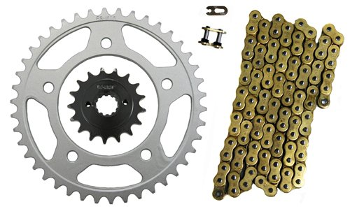 Gold 525x122 O-Ring Drive Chain 1741 Sprockets Honda Shadow 750 ACE VT750