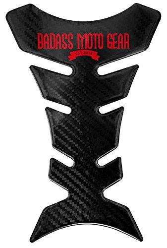 Badass Moto Gear Heavy Duty Motorcycle Gas Tank Protector Pad Carbon Fiber