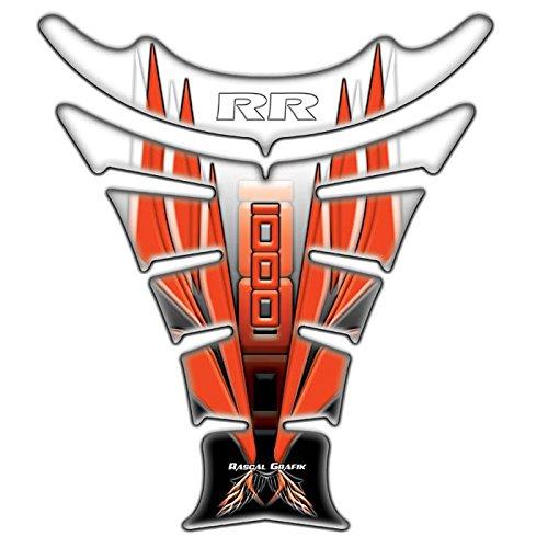 Honda CBR1000RR Rascal Grafik X-ak Tank Pad Silver  Orange