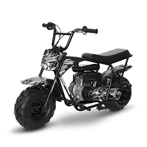 Monster Moto MM-B80-SF WhiteBlack Phantom Flame Mini Bike 80cc 25Hp