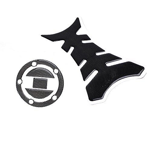 Set of Carbon Fiber Pattern Tank Gas Cap Sticker Decal Pad for SUZUKI GSXR 600 750 1000 1300 HAYABUSA SV650