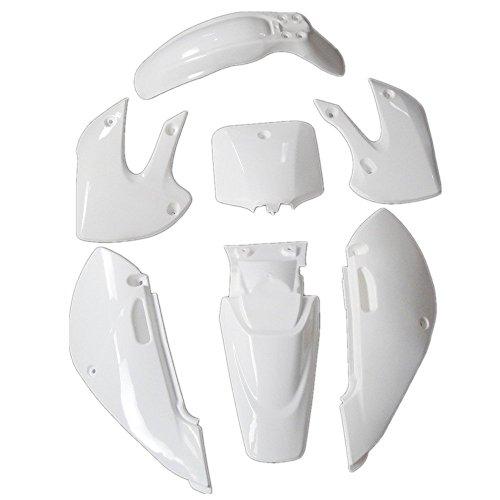 ZXTDR Plastic Fairing Kit  Complete Kawasaki Kx 65 KX65 Suzuki DRZ 110 Fender parts White