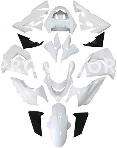 PROMOTOR Motorcycle Fairing Kit Unpainted Fairings for Kawasaki Ninja ZX-10R 2004-2005 19 Pcs