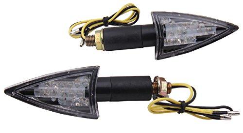 2 PCS Long Stalk Turn Signals LED Lights Blinkers for 2013 Kawasaki Ninja 300 EX300B ABS