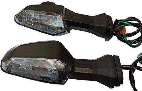 One pair Rear Smoke Lens Blinkers Indicators Turn Signal Lights for 2013 Kawasaki Ninja 300 EX300B ABS